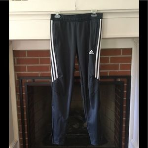 Men's Adidas dri-fit joggers with zippers
